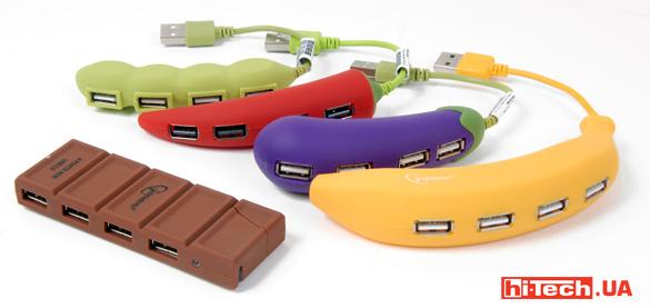 USB-хабы Gembird UH-001, UH-002, UH-003, UH-004… и шоколадка