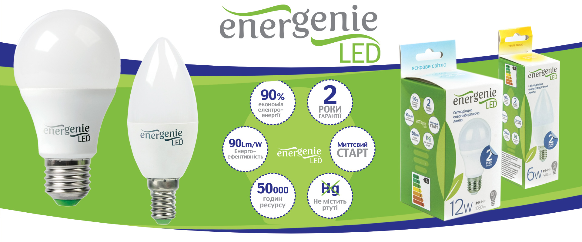 НОВИНКИ! LED лампы торговой марки EnerGenie.