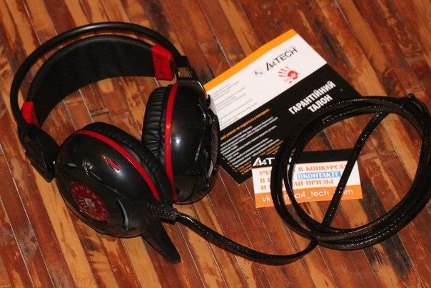 A4Tech Bloody G300 (Black+Red): стильная игровая гарнитура с неоновой подсветкой
