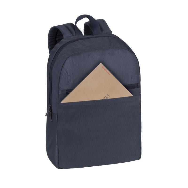 RivaCase 8065 Dark Blue – недорогой и крепкий рюкзак для ноутбука