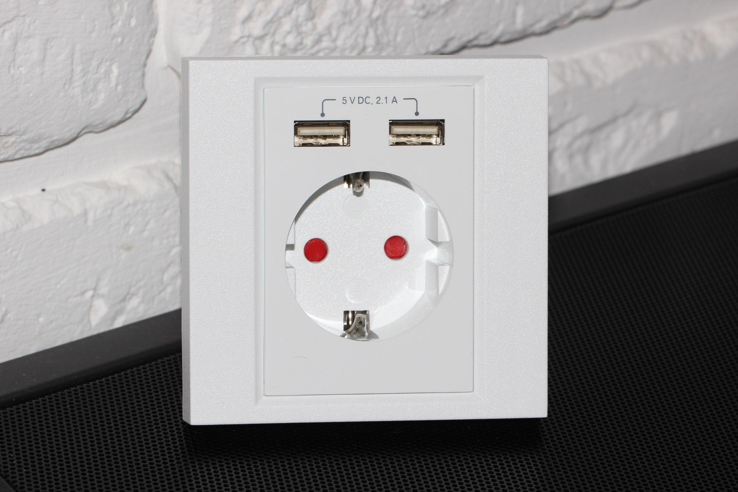 Обзор электрической розетки с USB-портами Cablexpert MWS-ACUSB2-01
