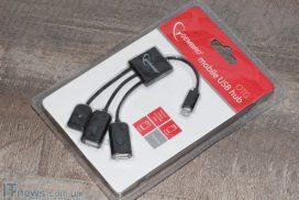 Gembird UHB-OTG-02: как подключить две USB-флешки к смартфону одновременно